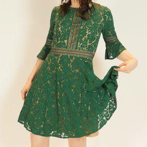 Emerald Lace Cocktail Dress